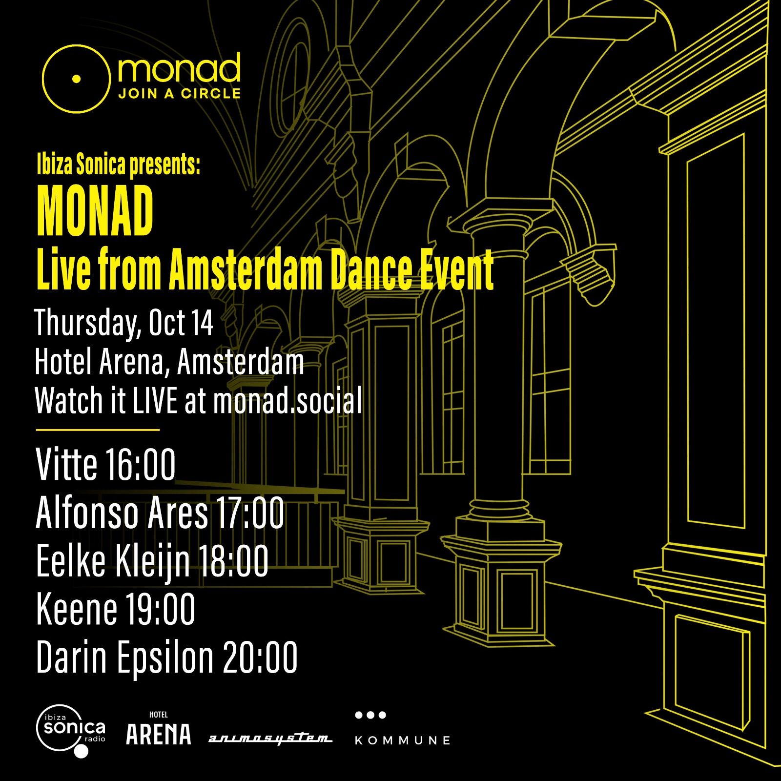 Sonica presents monad Live from ADE Amsterdam